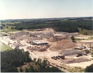 Aerial Shot of Main Pit in Uxbridge